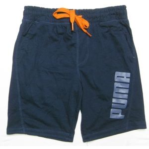 PUMA Little Boys Draw-String Shorts Peacoat, S (8)